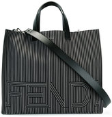 Fendi two-tone striped tote bag - men - Leather/Nylon - One Size