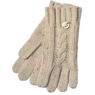 Guinness Official Merchandise Guinness Cable And Rib Knit Gloves Natural Colour