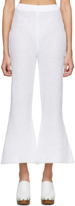 Eckhaus Latta White Scallop Lounge Pants