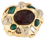 Alexis Bittar Crystal & Malachite Ring