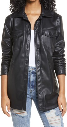 BP Faux Leather Collar Jacket