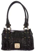 M Missoni Leather-Trim Shoulder Bag