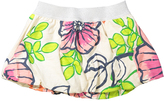 Morgan & Milo Pink & Lime Floral Joanie Bubble Skirt - Toddler & Girls