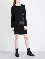 Comme des Garcons Splash wool mini dress