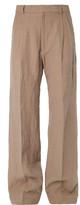 Dries Van Noten Patterson Wide-Leg Linen Trousers