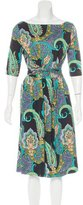 Etro Paisley Print A-Line Dress w/ Tags