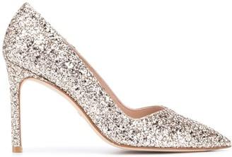 Stuart Weitzman Anny Confetti glitter pumps