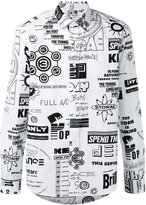 Kenzo Flyers print casual shirt - men - Cotton - S