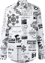 Kenzo Flyers print casual shirt