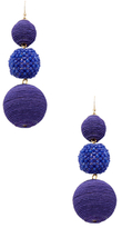 Kenneth Jay Lane Thread Wrapped Ball Statement Earrings