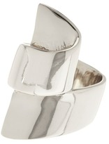 Ariella Collection Ribbon Metal Ring - Size 8