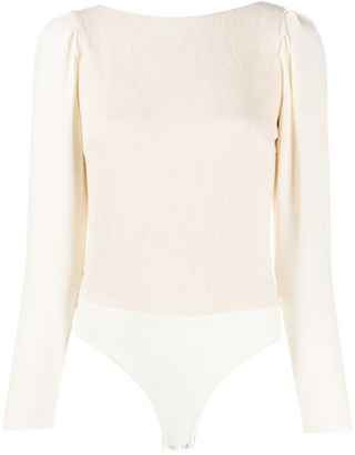 Johanna Ortiz Open-Back Ruched Bodysuit