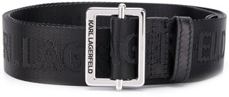 Karl Lagerfeld Paris K logo webbing belt