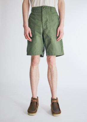 Engineered Garments Men's Fatigue Short in Olive, Size Small | 100% Cotton