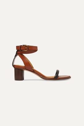 Isabel Marant Jadler Two-tone Leather Sandals - Brown