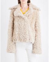 Theory Oversized-collar shearling coat
