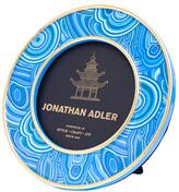 Jonathan Adler Malachite Round Porcelain Frame