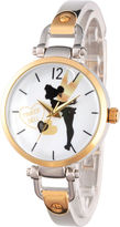 Disney Tinker Bell Womens Two Tone Bracelet Watch-Wds000065