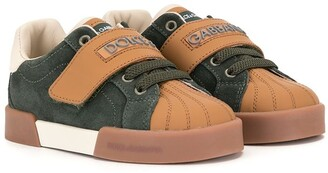 Dolce & Gabbana Kids Colour-Block Touch Strap Sneakers