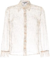 Chanel Pre Owned long sleeve see-through shirt