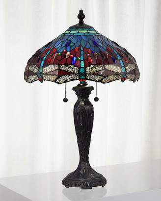 Dale Tiffany Gilder Dragonfly Tiffany Lamp