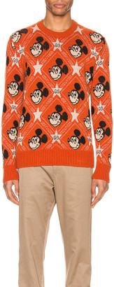 Gucci x Disney Wool Sweater in Orange & Multi | FWRD