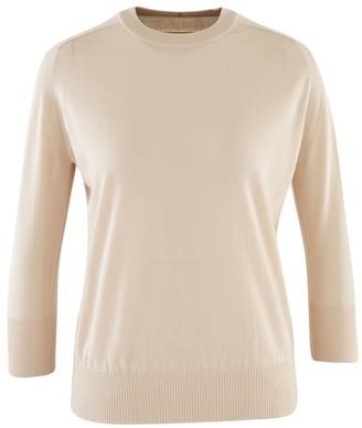 Loro Piana Piuma Cashmere Pullover with 3/4-length Sleeves