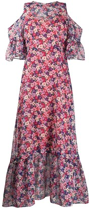 Twin-Set Floral Print Chiffon Maxi Dress