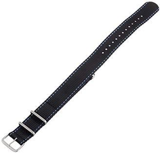 Hadley Roma Hadley-Roma MS4220RF 220 22mm Nylon Black Watch Strap