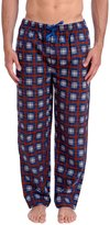 Wanted Men's American Plaid Flannel Pajama Lounge Pant (Blue, Red,)
