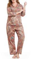 Lauren Ralph Lauren Plus Paisley Sateen Classic Pajamas