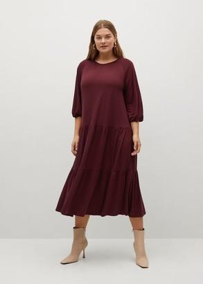 MANGO Flared midi dress