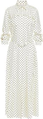 Gabriela Hearst Descartes Belted Polka-dot Silk-twill Midi Shirt Dress