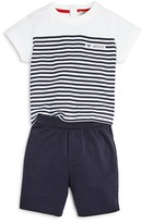 Armani Junior Armani Infant Boys' Striped Tee & Shorts Set - Sizes 9-24 Months
