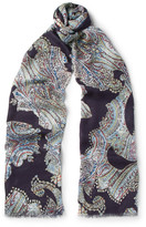 Etro - Paisley-print Modal And Cashmere-blend Scarf