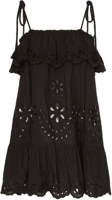 RED Valentino Broderie Anglaise Cotton Poplin Mini Dress
