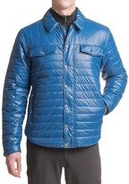 White Sierra Zephyr Quilted Shirt Jacket (For Men)
