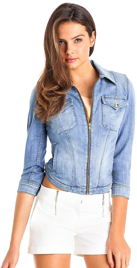 GUESS by Marciano Cropped Jean Jacket