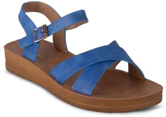 Wanted Adjustable Cross Strap Sandals - Johanna
