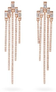 Shay Fringed Diamond & 18kt Rose Gold Earrings - Rose Gold