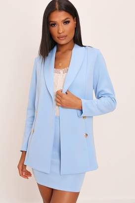 I SAW IT FIRST Baby Blue Double Button Blazer