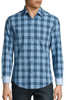 HUGO BOSS Briar Plaid Cotton Sportshirt