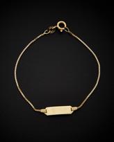 Italian Gold 14K Box Link Id Bracelet