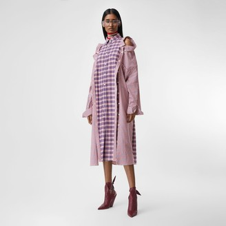 Burberry Contrast Check Cotton Reconstructed Shirt Dress