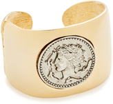 Kenneth Jay Lane Coin Cuff Bracelet