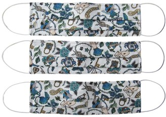 Rumour London Reusable Protective Cloth Masks With Integrated Filter In Liberty Print True Love (Pack Of 3)