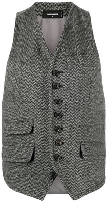 DSQUARED2 tailored V-neck waistcoat