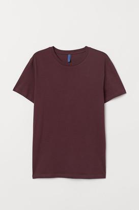 H&M Regular Fit Crew-neck T-shirt - Red