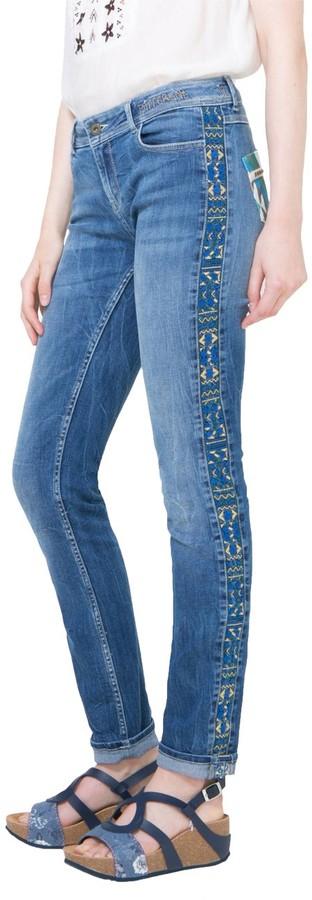 Thumbnail for your product : Desigual womens72D2JD0Orense Denim Long Trouser Jeans - Blue - 10