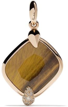 Pomellato 18kt rose gold Ritratto tiger eye and diamond pendant